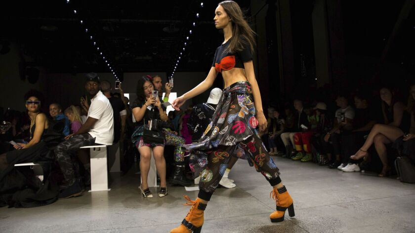 Jeremy Scott's spring 2019 collection is modeled during Fashion Week in New York, Thursday, Sept. 6,