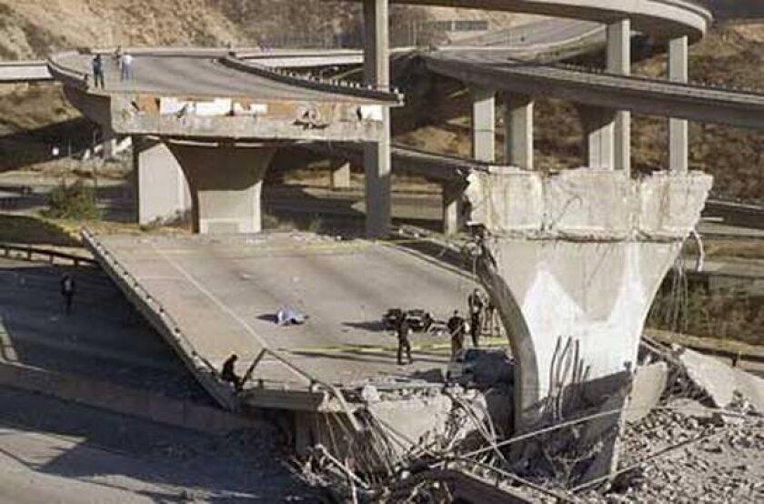 The magnitude 6.7 Northridge earthquake in January 1994 killed 57 people.