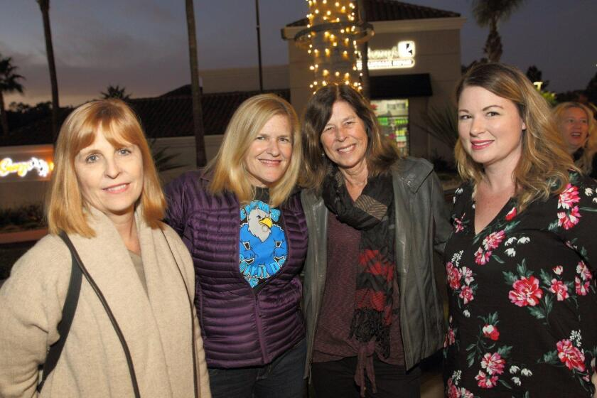 Laser light show, Santa at Del Mar Highlands Town Center