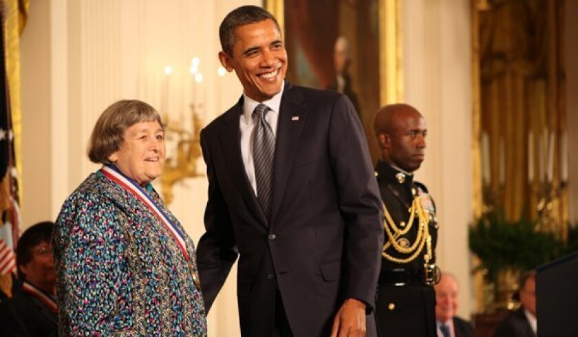 President Obama bestowed the National Medal of Technology and Innovation on pioneering rocket scientist Yvonne Brill at the White House in 2011.