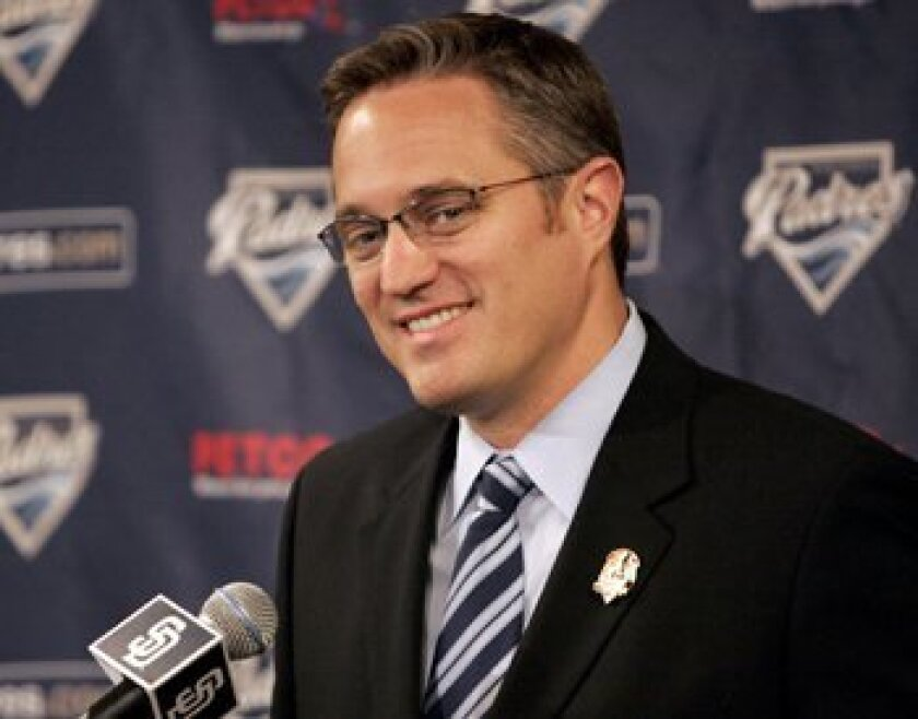 Tom Garfinkel, president and chief operating officer of the Padres.