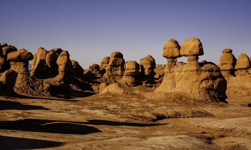 A Utah man was charged with felony criminal mischief for toppling one of the unique rock formations in Utah's Goblin Valley State Park.