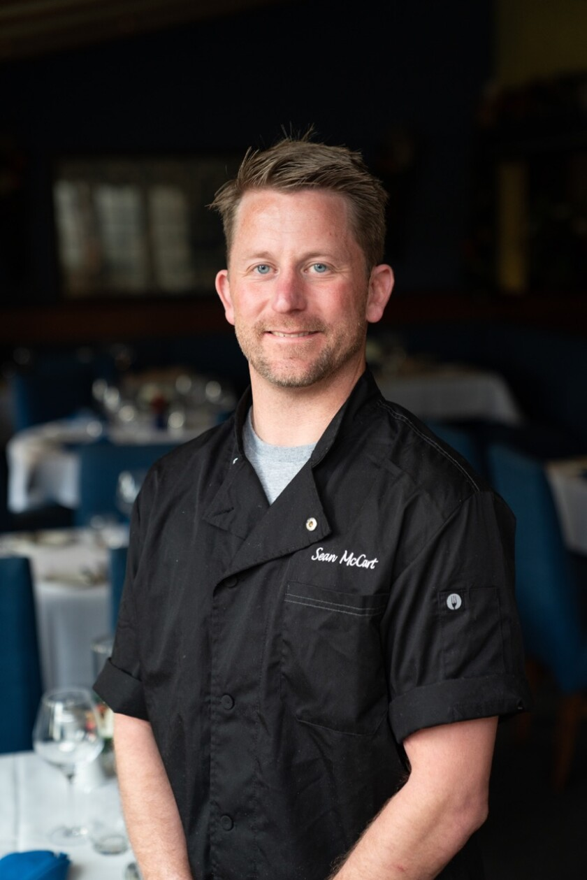 Sean McCart, new chef de cuisine at Mille Fleurs restaurant in Rancho Santa Fe.