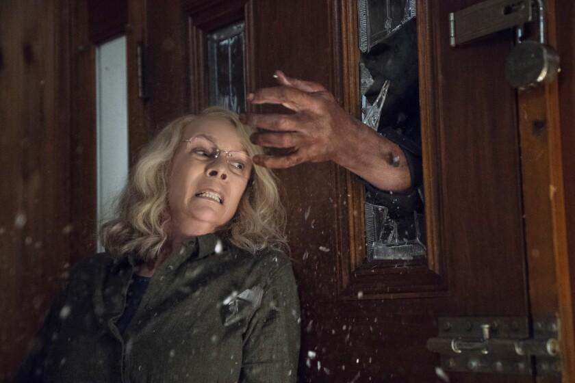 """Jamie Lee Curtis en una escena de la nueva entrega de """"Halloween"""", que se estrena esta semana."""