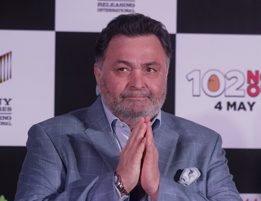 Bollywood actor Rishi Kapoor arrives at a film event in April 2018.