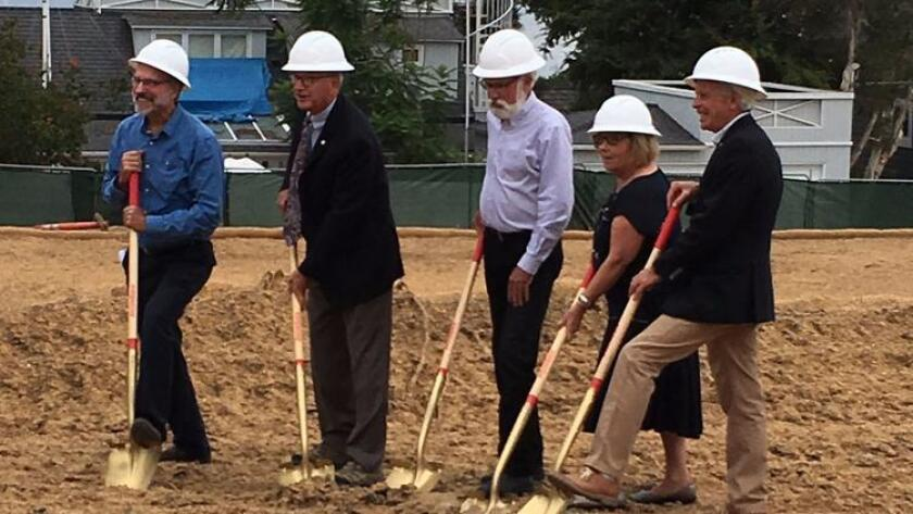 The Del Mar City Council at the groundbreaking ceremony. (Courtesy)