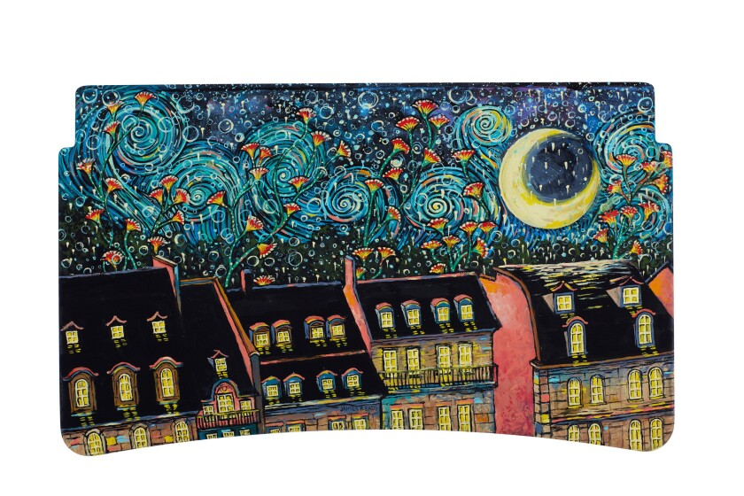 James Eads circled in on the night sky of Paris.
