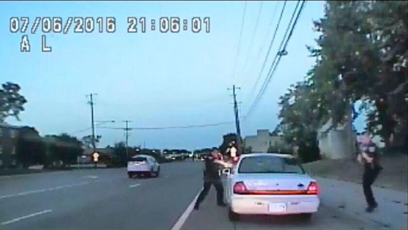 A video captured by a camera in the squad car shows a police officer fatally shooting black motorist Philando Castile during a traffic stop in Falcon Heights, Minn.