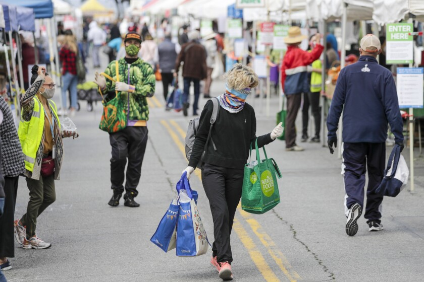 The coronavirus outbreak has changed shoppers as well as vendors at the Santa Monica Farmers Market.