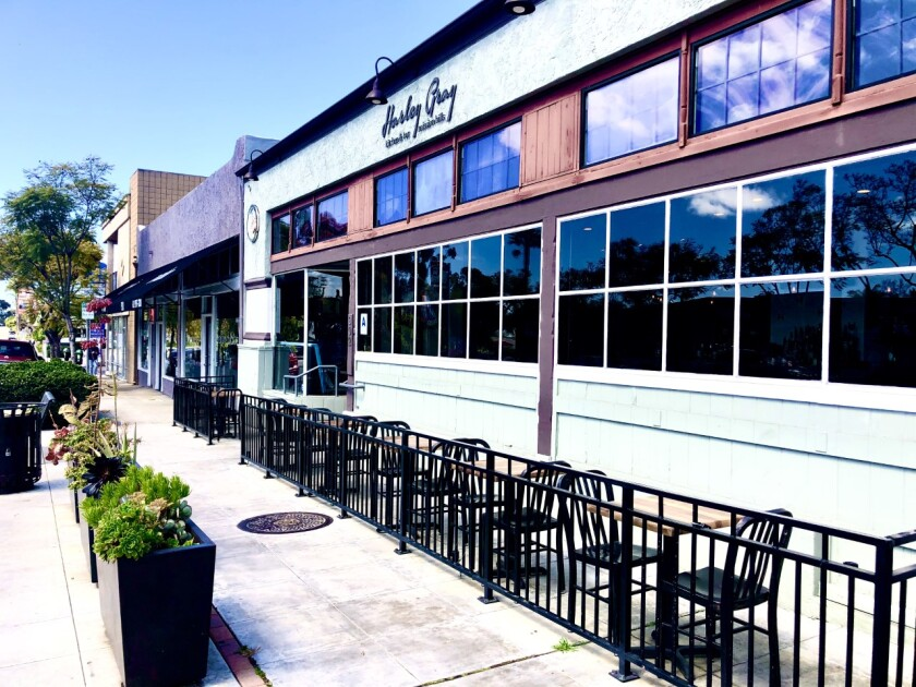 On what would normally have been a busy day, tables outside Harley Gray restaurant in Mission Hills were eerily empty on March 17, the first day of San Diego's ban on dining out.
