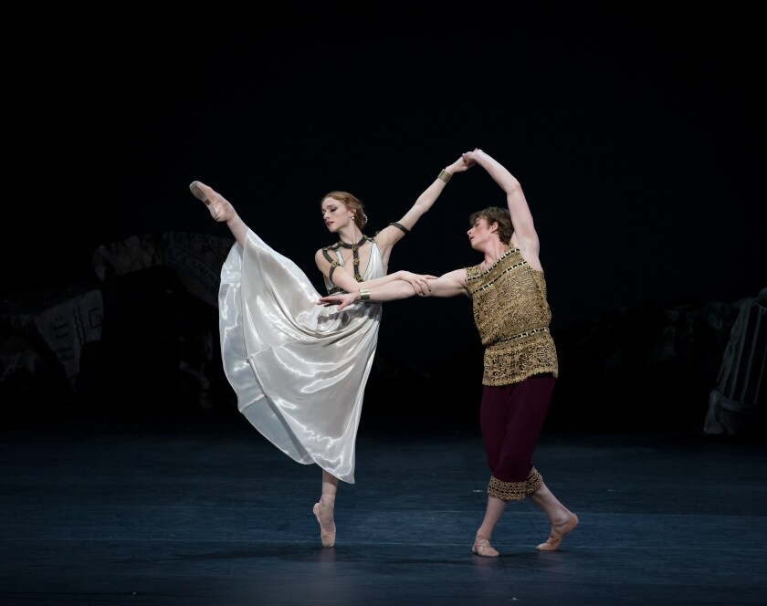 "Catherine Hurlin and Aran Bell in American Ballet Theatre's ""Of Love and Rage."""