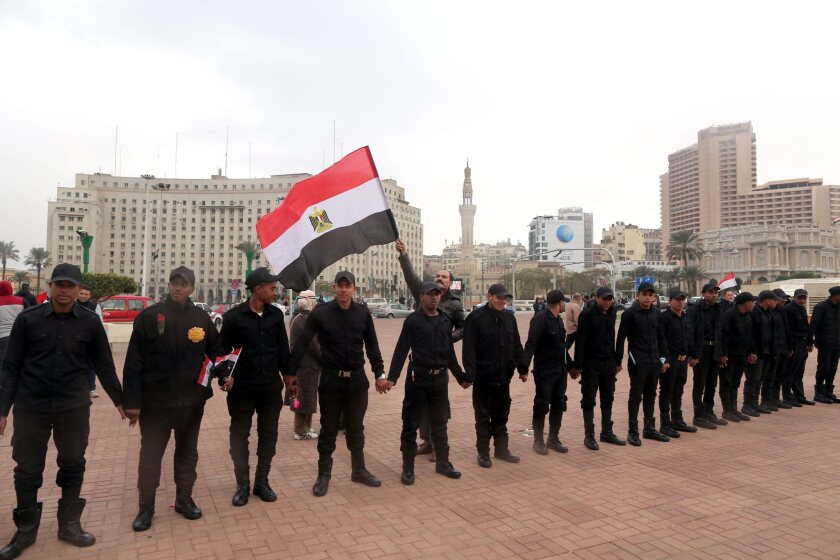 Anniversary of the 2011 protests in Egypt