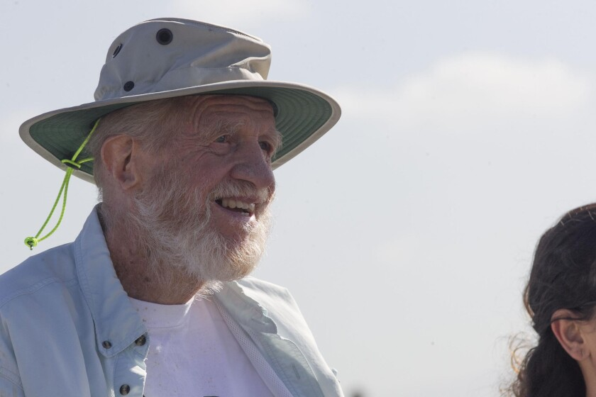 Mike McCoy, shown here, and his wife Patricia are heralded as the people who helped save the largest coastal wetland in Southern California in the 1970s.