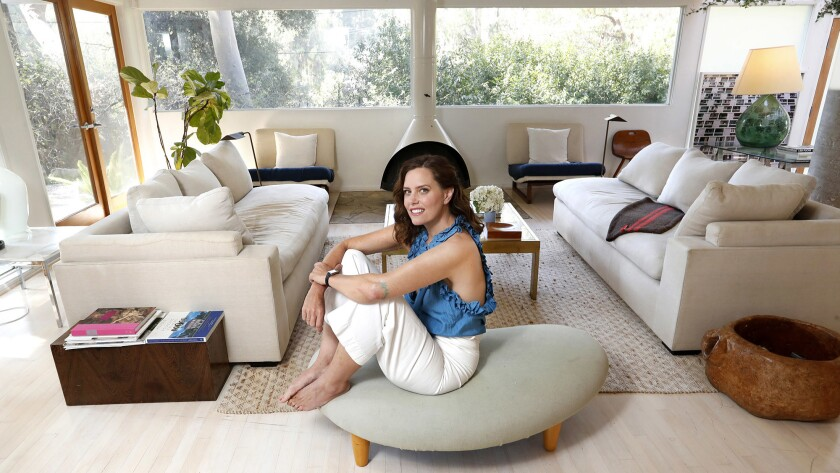 For Ione Skye, actress, author and artist, her favorite room in her Los Angeles home is the living room.