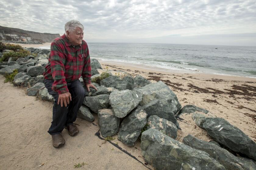 "Paul N. ""Pete"" McCloskey, former Bay Area congressman, at Martins Beach in 2018."