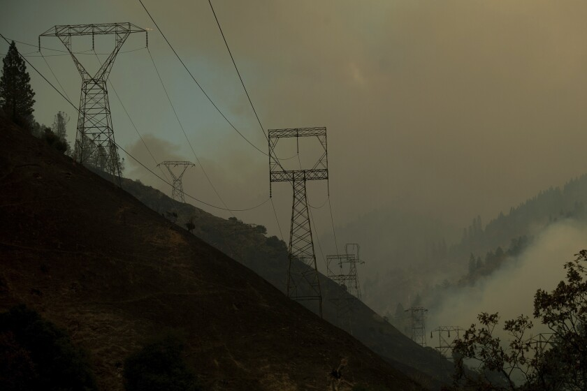 Power lines near the Camp Fire point of origin