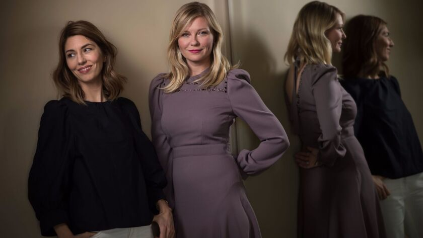"""Sofia Coppola, left, and Kirsten Dunst worked together again on """"The Beguiled."""""""