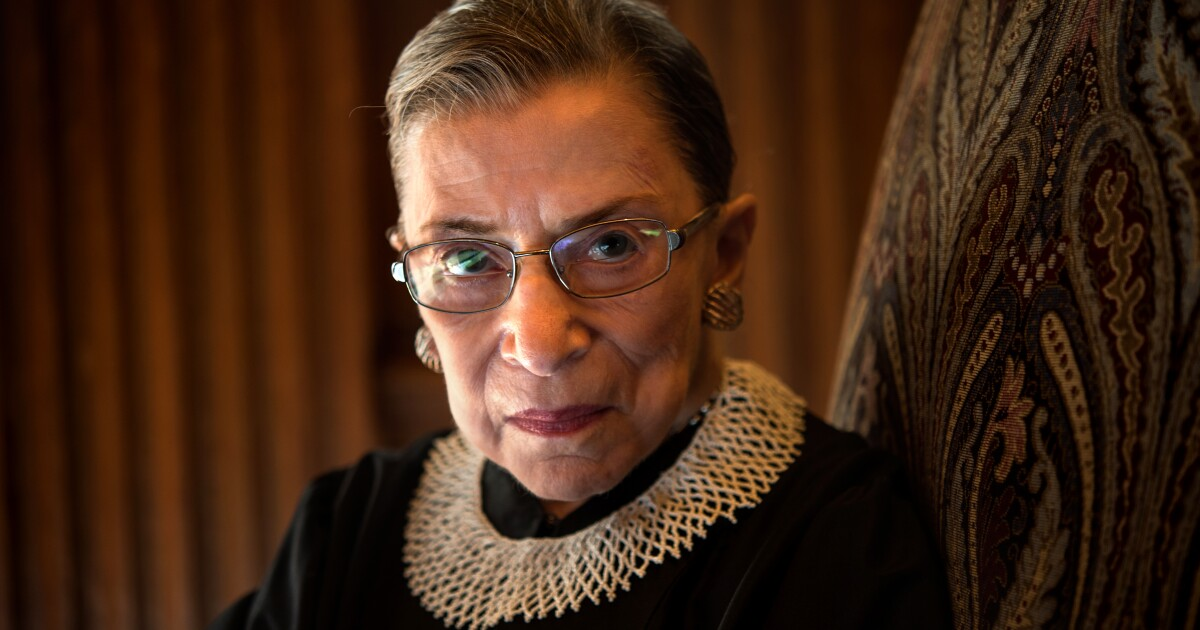 Editorial: Ruth Bader Ginsburg, a Supreme Court icon, is dead. The Senate should wait to replace her.