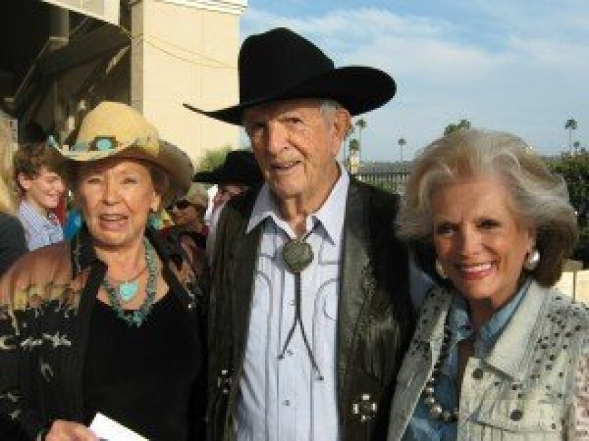 "Friends of San Pasqual supporters Donna and Bill Herrick and Connie McNally are getting ready to cheer on their favorite riders at the ""Teens, Jeans and Dreams"" team penning event, which will be held on Saturday, Sept. 7, at 5 p.m. at the Del Mar Fairgrounds."