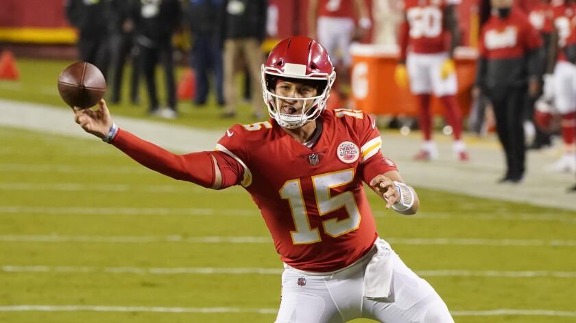 Kansas City Chiefs quarterback Patrick Mahomes throws against the Houston Texans in their NFL season opener.