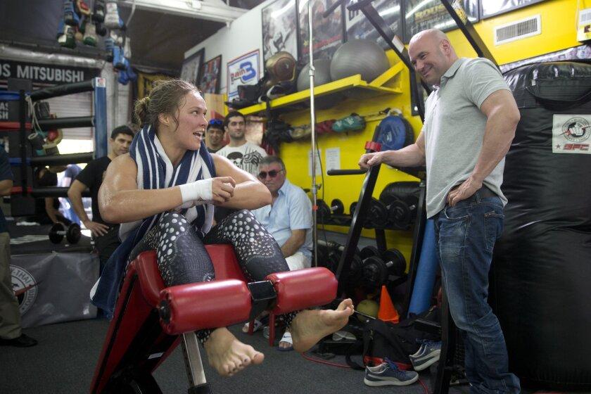 Ronda Rousey, Dana White