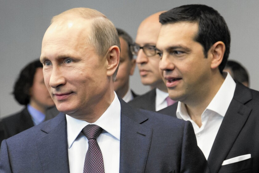 Vladimir Putin, Alexis Tsipras