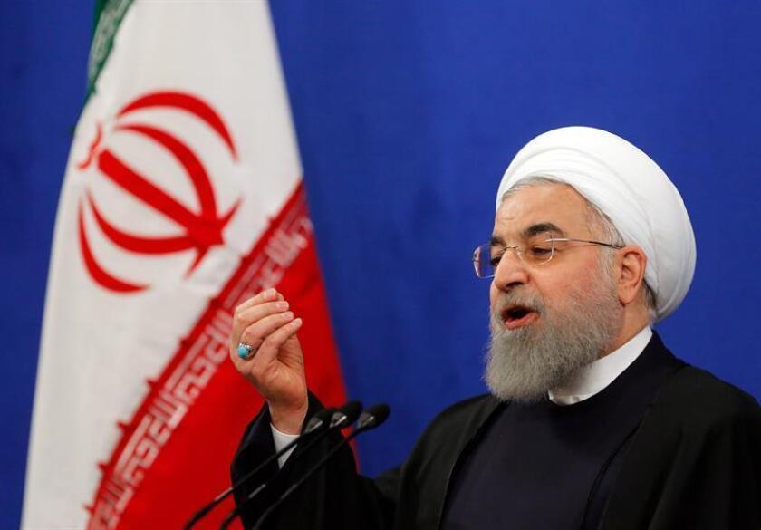 El presidente iraní, Hasan Rohaní, ofrece una rueda de prensa en Teherán, Irán. EFE/Archivo