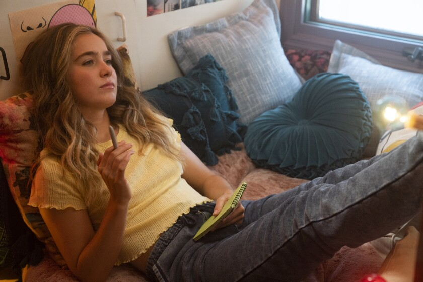 """This image released by HBO Max shows Haley Lu Richardson in a scene from """"Unpregnant."""" (Ursula Coyote/HBO Max via AP)"""