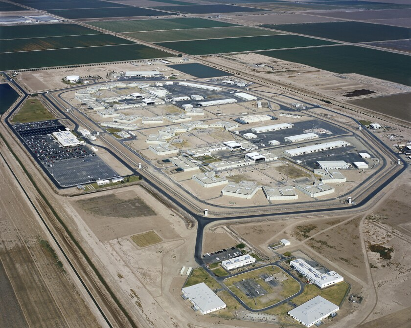Seven inmates were hurt Tuesday in a melee at Calipatria State Prison.