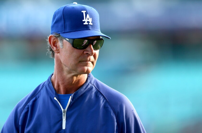 Dodgers Manager Don Mattingly has already had his patience tested only two games into the season.