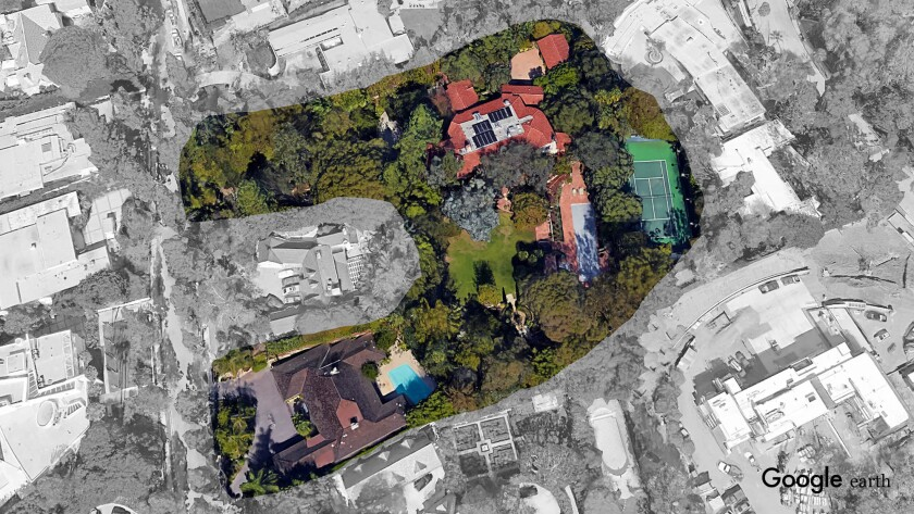 The Beverly Hills compound of Amazon.com founder Jeff Bezos now encompasses roughly 2.5 acres after