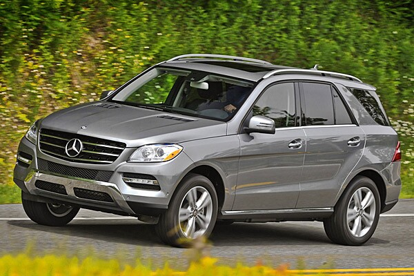 These systems watch for an inattentive driver and help keep drivers alert. Many Mercedes-Benz vehicles, like the ML350 seen here, have systems like this. Read our full review of the ML350 here.