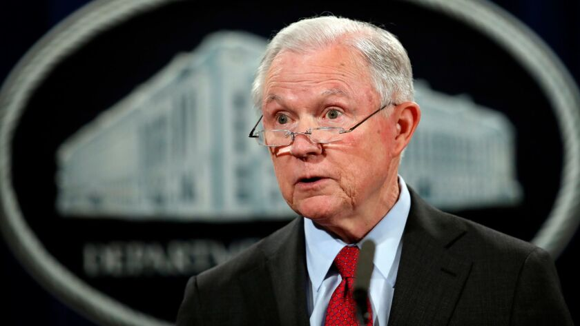 U.S. Atty. Gen. Jeff Sessions has repealed a Department of Justice policy that called for taking a hands-off approach to states that legalize marijuana.