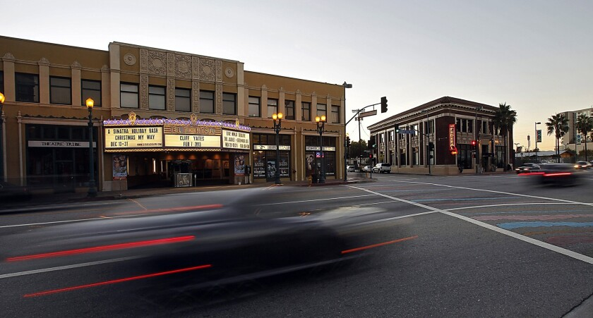 The El Portal Theatre along Lankershim in North Hollywood.