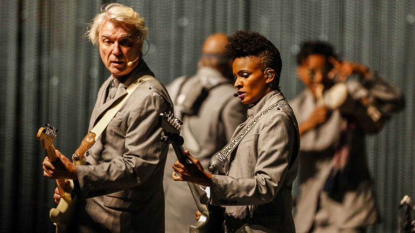 Review: David Byrne's American Utopia tour at the Shrine: The same, and not  the same, as he ever was - Los Angeles Times