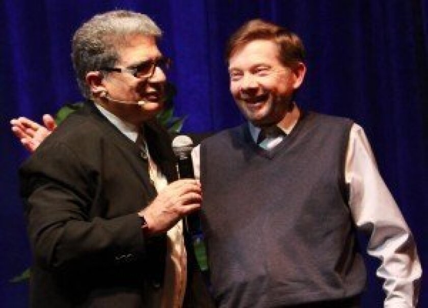 Deepak Chopra and Eckhart Tolle