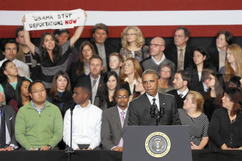 President Obama discusses immigration issues in Chicago in November.