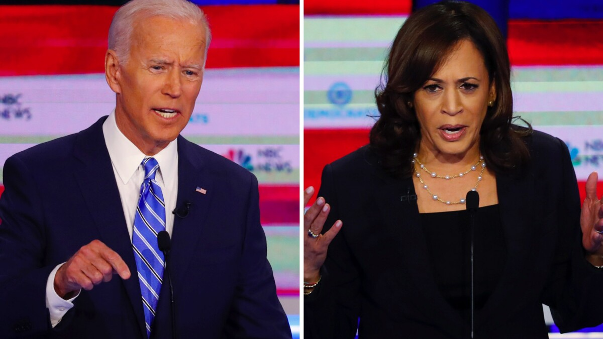Kamala Harris Attack On Biden A Backdrop In Vp Pick Los Angeles Times