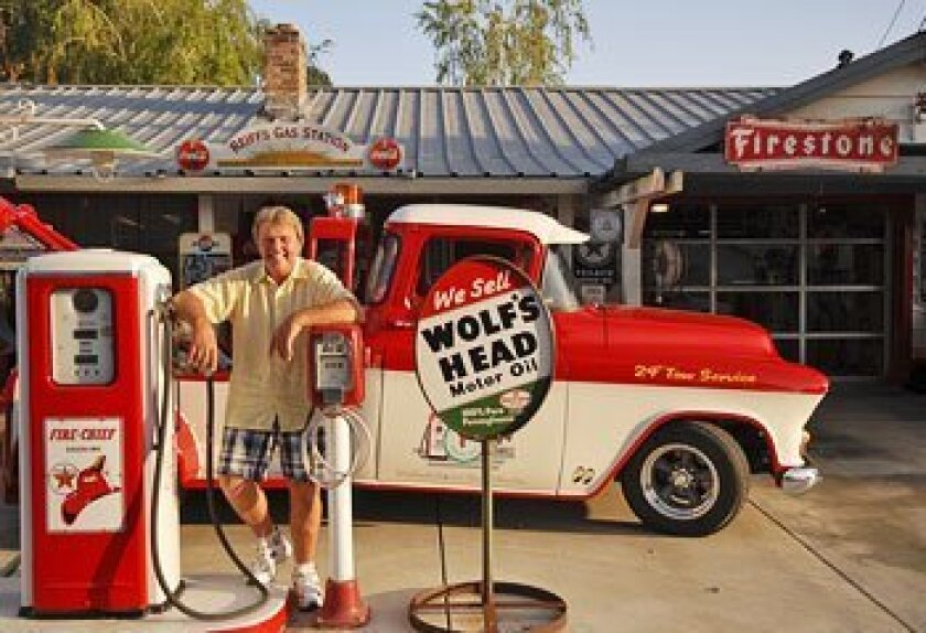 Mark Reiff transformed his Woodland home into an homage to Route 66, complete with a fake gas station. (Michael Jones / MCT)