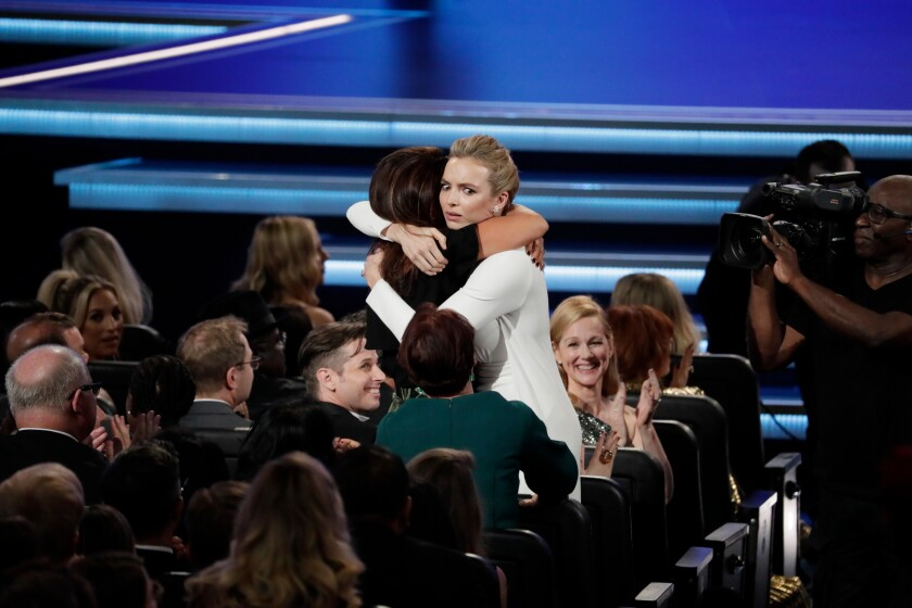 """""""Killing Eve"""" star Jodie Comer reacts to her surprising drama lead actress Emmy win."""