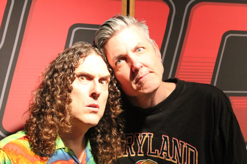 """Weird Al"" Yankovic, left, and Gene ""Bean"" Baxter"