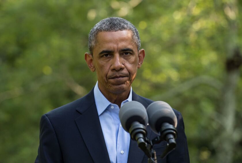 President Obama makes a statement on the situation in Iraq from Martha's Vineyard, Massachusetts.