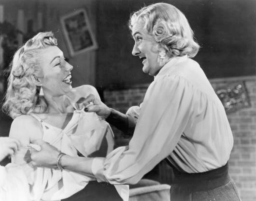 "Dolores Fuller and Ed Wood Jr. in the 1953 movie ""Glen or Glenda."""
