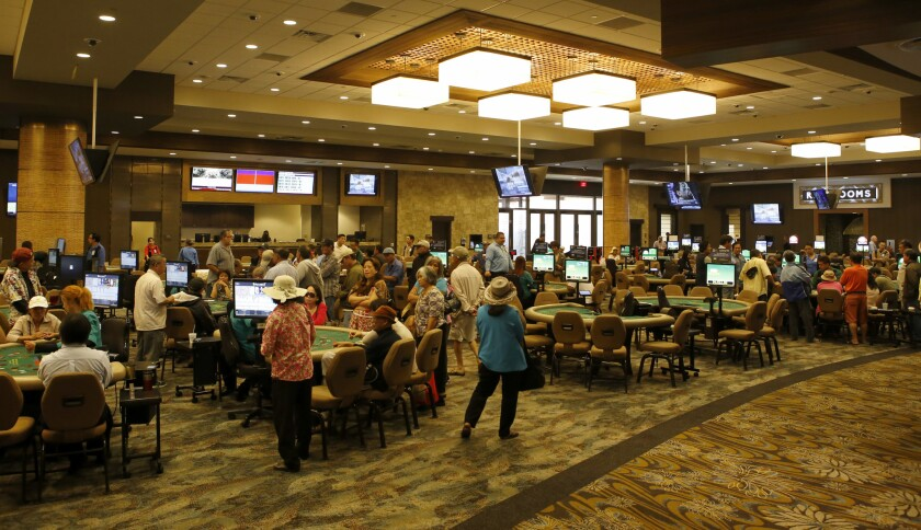 Card players try their luck at various games at the Gardens Casino in Hawaiian Gardens. The facility has undergone a $90-million overhaul and expansion.