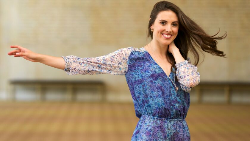 Tiler Peck at L.A.'s Dorothy Chandler Pavilion in preparation for this weekend's BalletNow. Peck, a star dancer with the New York City Ballet, is curating and performing in the Music Center's annual dance extravaganza.