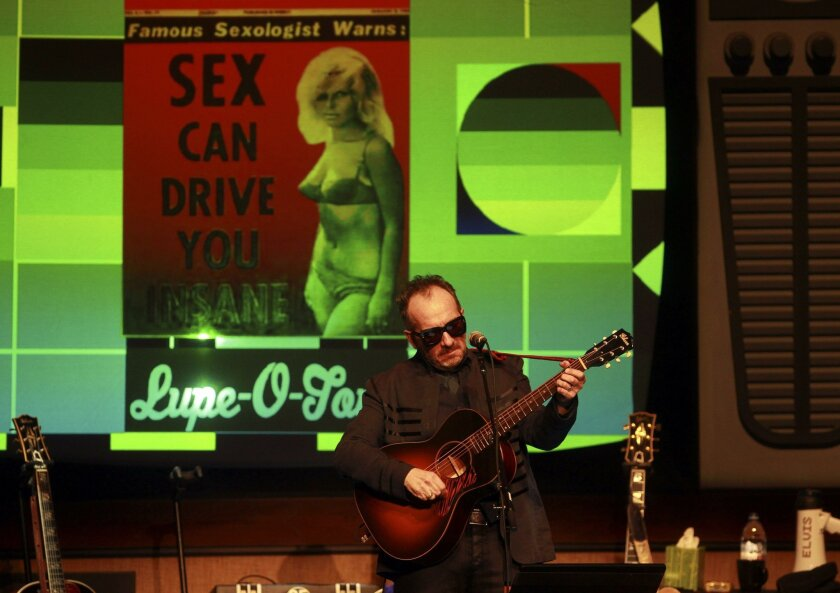SAN DIEGO, April 7, 2016 | Elvis Costello performs at the Balboa Theatre in San Diego on Thursday. | -Mandatory Photo Credit: Photo by Hayne Palmour IV/San Diego Union-Tribune, LLC