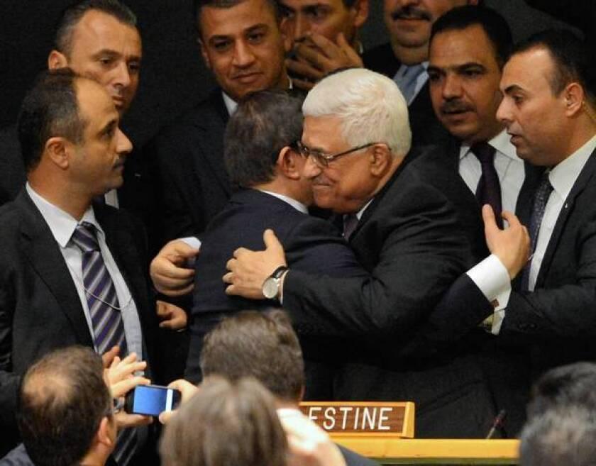 U.N. vote on Palestinian status a setback for U.S., Israel