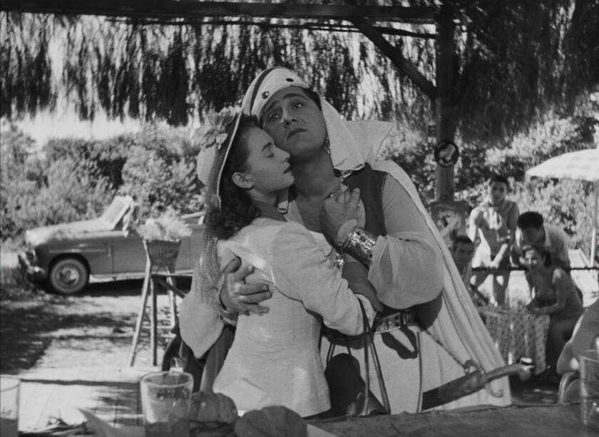 Brunella Bovo and Alberto Sordi in Federico Fellini's 1952 film 'The White Sheik'