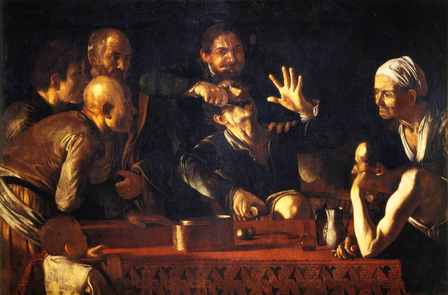 Art Review Bodies And Shadows Shows Caravaggio S Influence Los Angeles Times