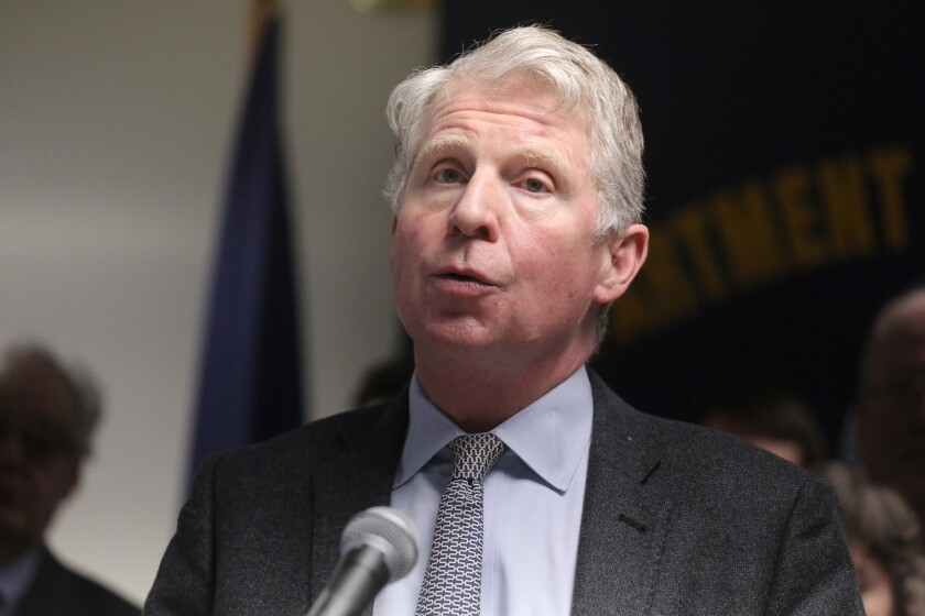 Manhattan District Attorney Cy Vance, Jr. is pictured in February.